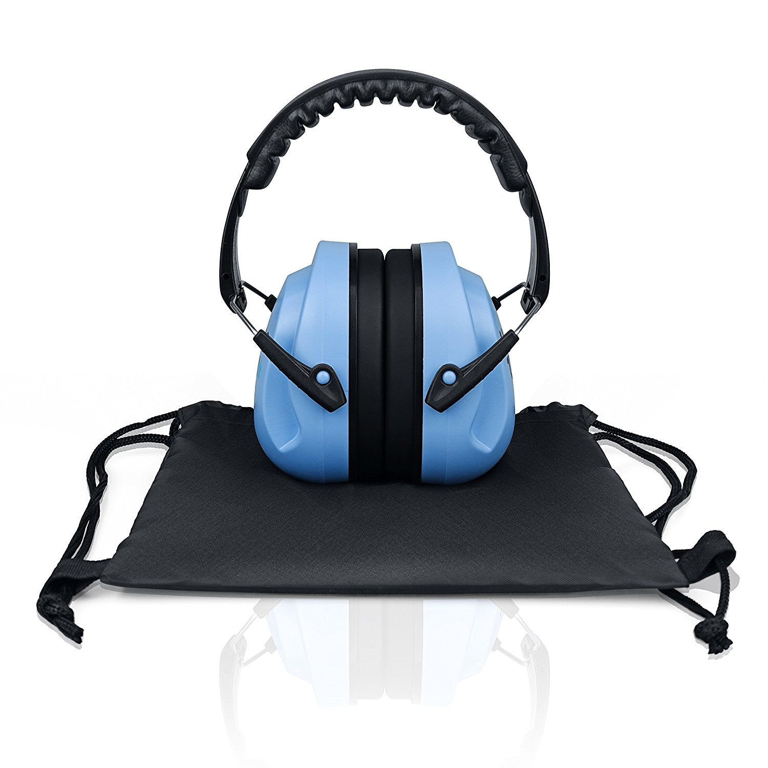 Blue Sammy Earmuffs Hearing Protection with Travel Bag