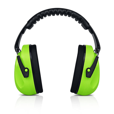 Green HearTek Sammie Earmuffs Hearing Protection with Travel Bag