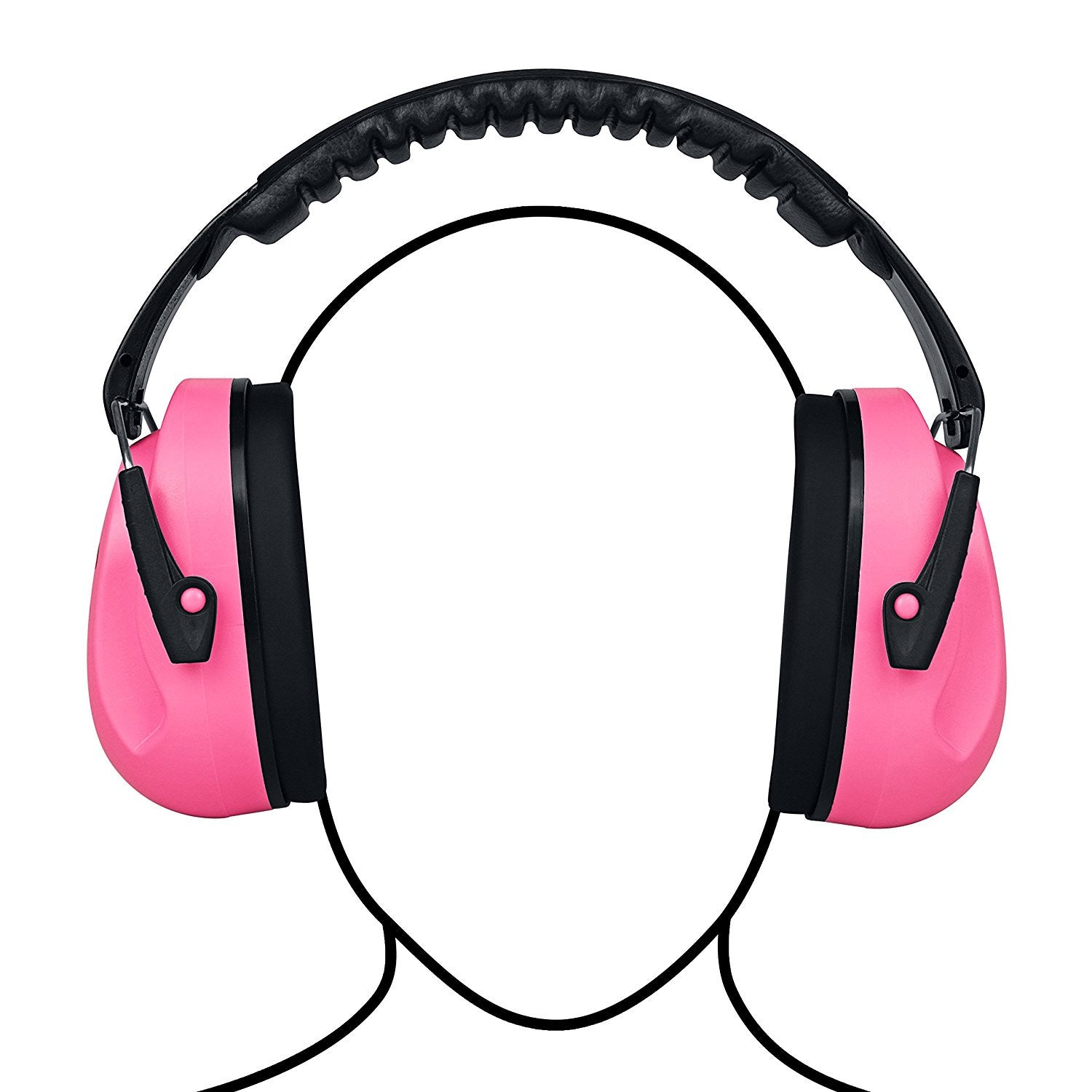 Pink Sammy Earmuffs Hearing Protection with Travel Bag