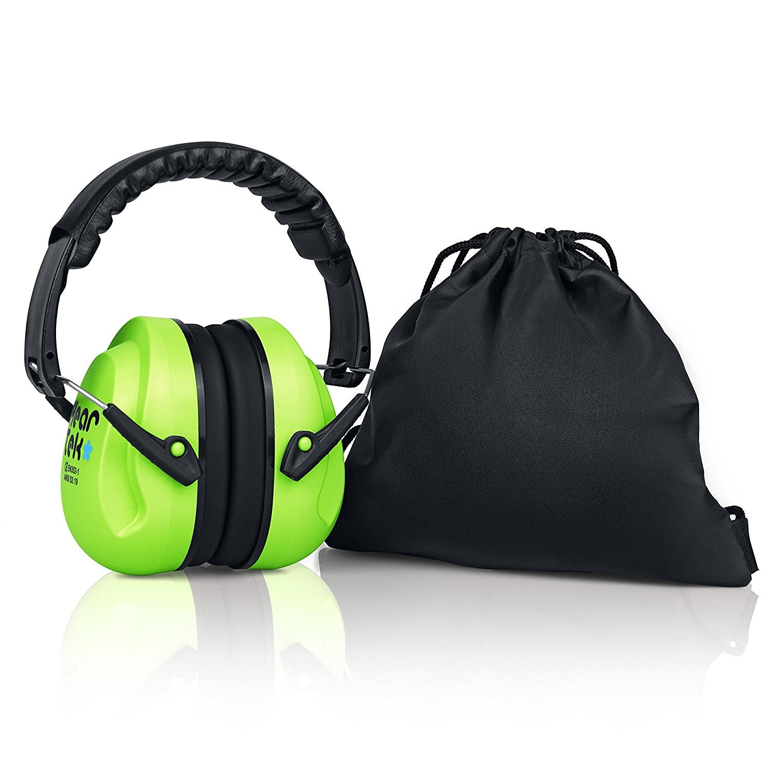 Green Sammy Earmuffs Hearing Protection with Travel Bag