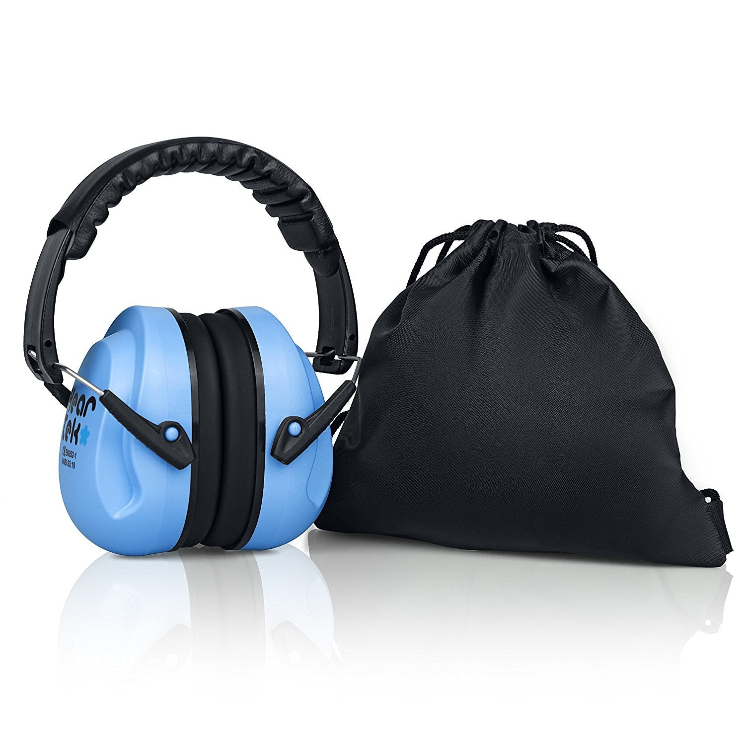Blue HearTek Sammie Earmuffs Hearing Protection with Travel Bag