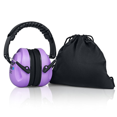 Purple Sammy Earmuffs Hearing Protection with Travel Bag