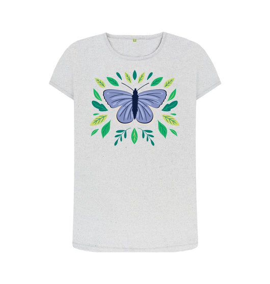 Grey female Butterfly t-shirt