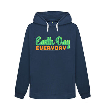 Navy Blue Earth Day female hoodie