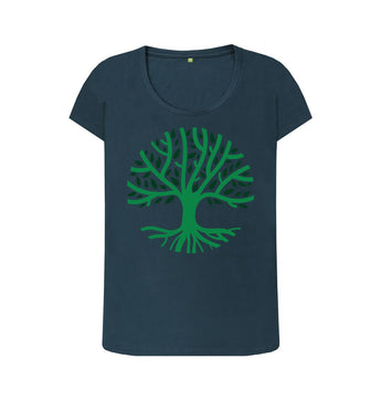 Denim Blue female Tree t-shirt