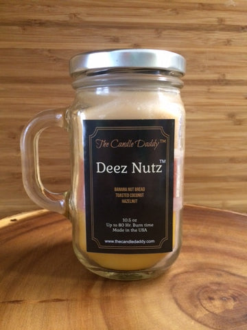 Deez Nutz Candle - Banana Nut Bread Scented Candle
