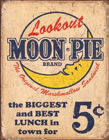Tin Sign - Moon Pie