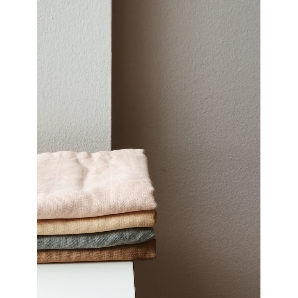 Konges Sløjd 1 Pack Muslin Cloth, Rose Dust