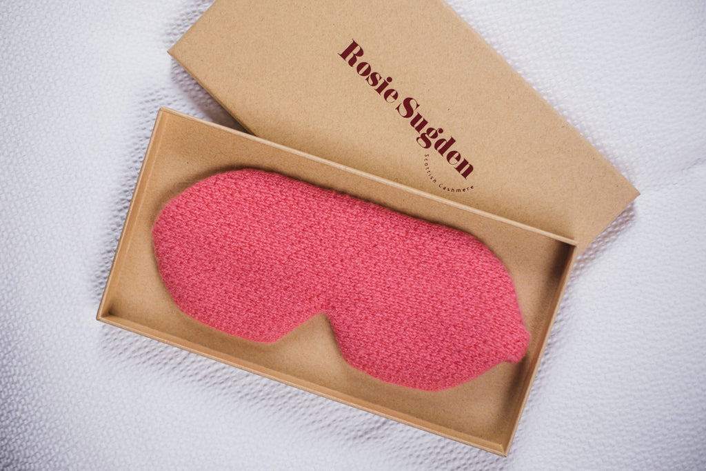 Cashmere Eye Mask, Blusher Pink