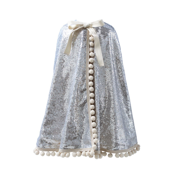 Fable Heart Diamond Pom Pom Cape
