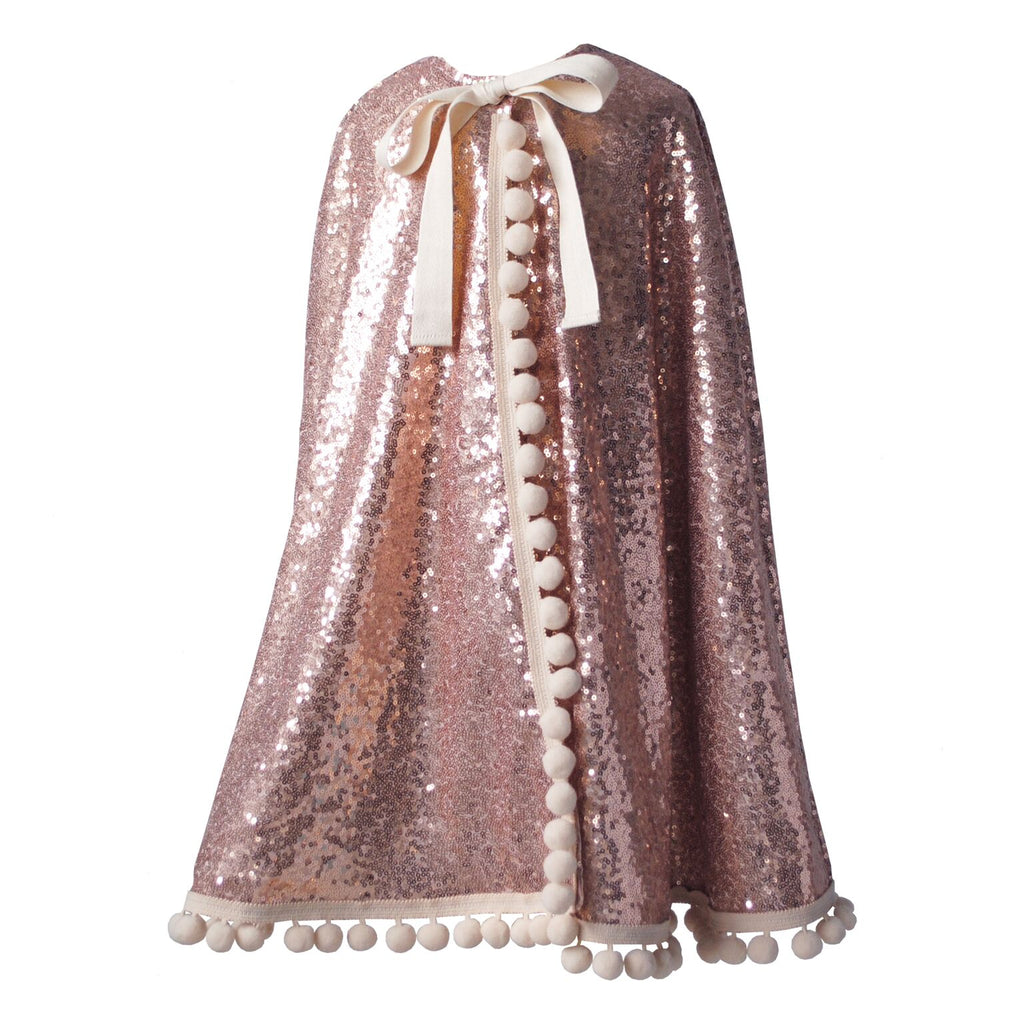 Fable Heart Rose Gold Pom Pom Cape