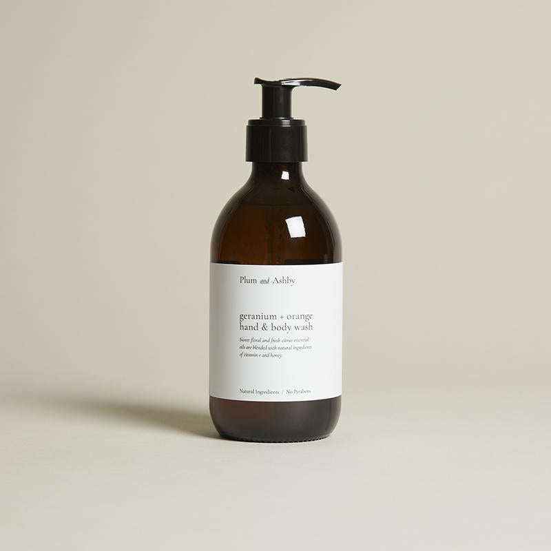 Plum & Ashby Geranium & Orange Hand & Body Wash