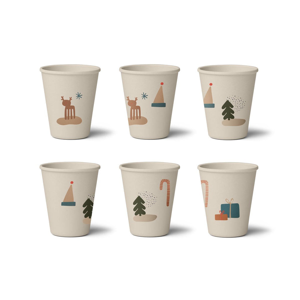 Liewood Gertrud Bamboo Cup 6 pack - Holiday Mix
