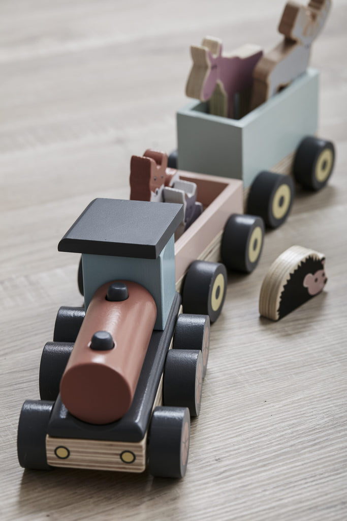 Kids Concept Animal Wood Train
