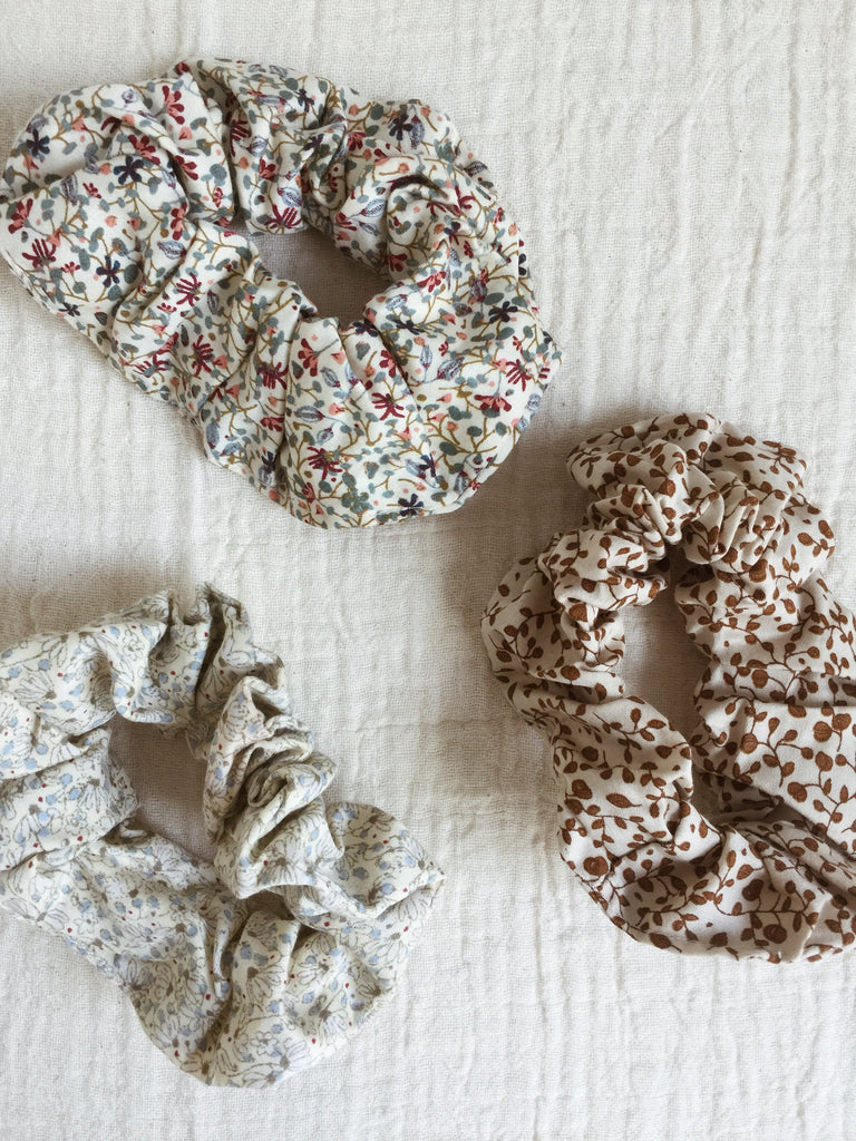 Konges Sløjd 3 Pack Scrunchies, Multi Floral