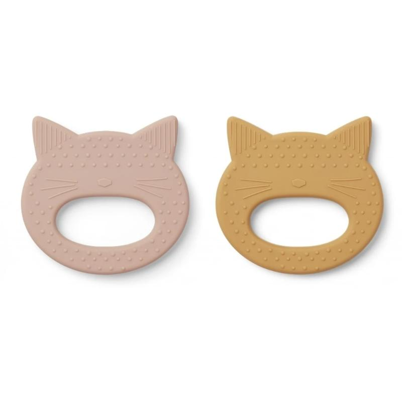 Geo Teether - Cat Rose/Mellow Yellow (2 pack)