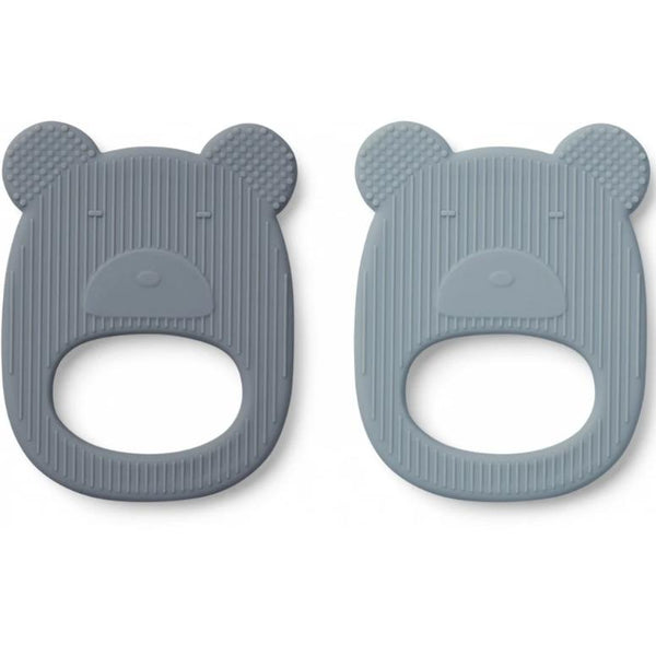 Geo Teether - Mr Bear Blue Mix (2 pack)