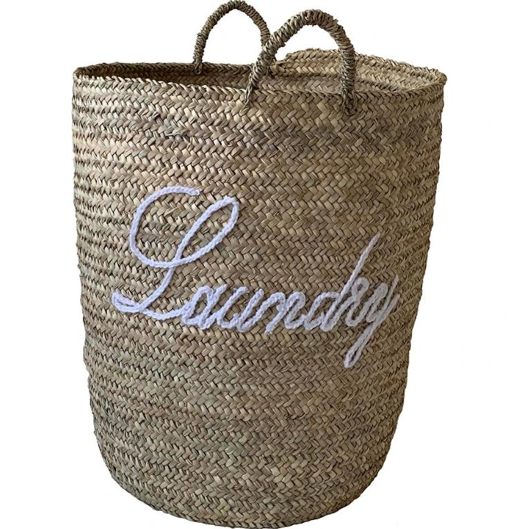 Embroidered Laundry Basket