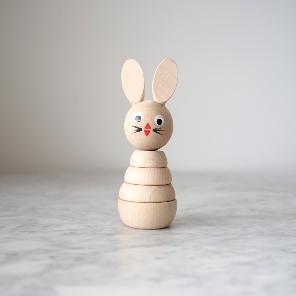 Sarah and Bendrix Henrietta - Wooden Rabbit Stacker