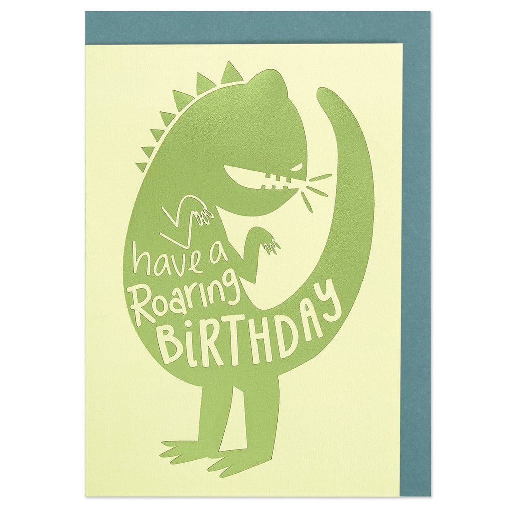 Raspberry Blossom, Have a Roaring Birthday Card