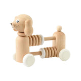 Sarah and Bendrix Bartholomew - Wooden Dog Counter White Wheels