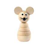 Sarah and Bendrix Gilbert - Wooden Stacking Mouse Toy