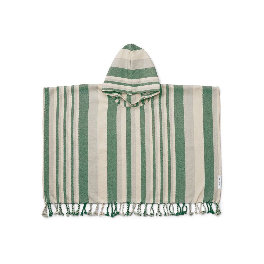 Liewood Roomie Poncho Garden Green/Sandy/Dove Blue