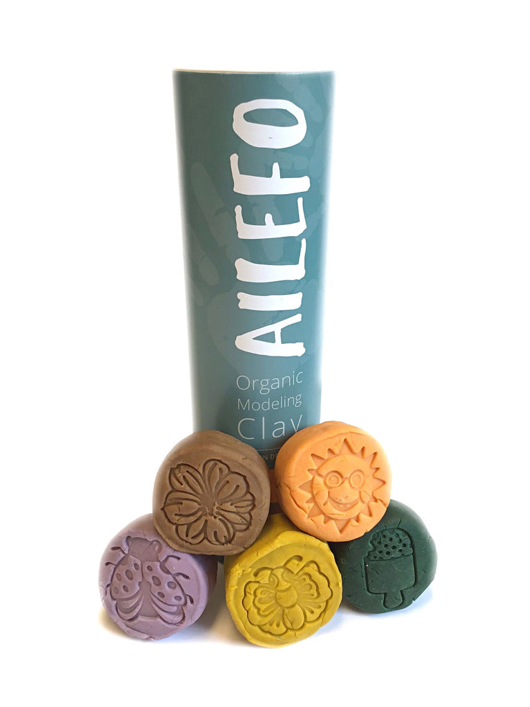 Ailefo Organic Modeling Clay, Forest Colours