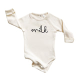 Organic Zoo Cream Milk Bodysuit