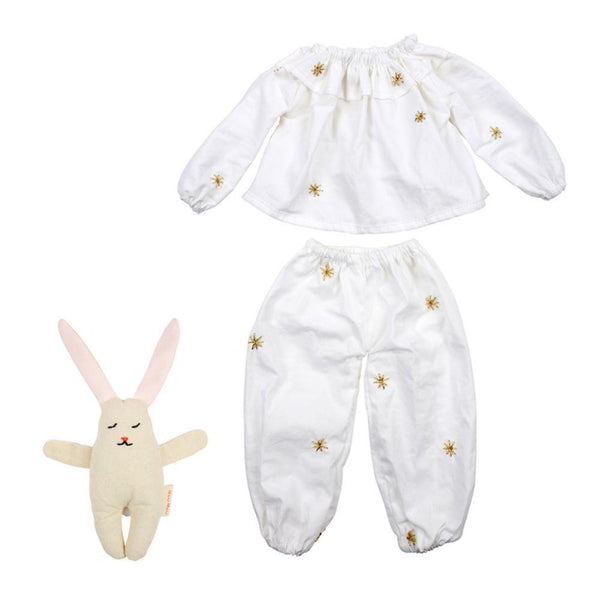 Meri Meri Pyjamas And Bunny Doll Dress-Up