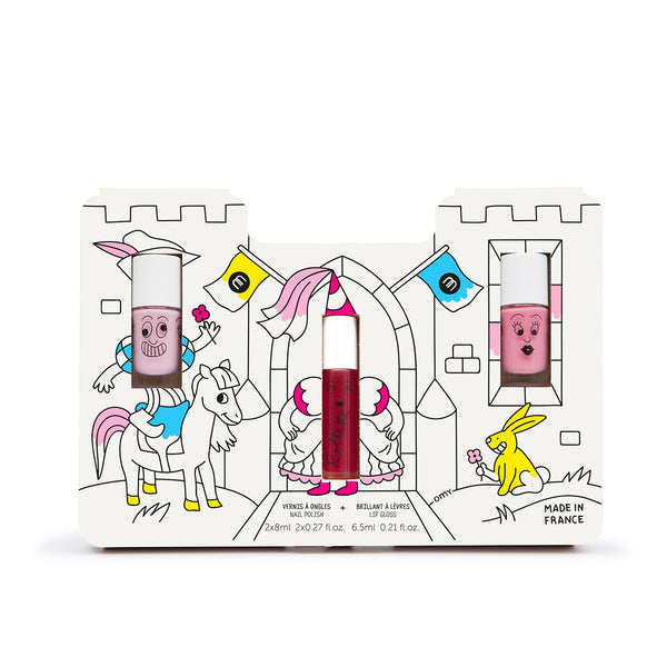 Nailmatic Princess Story, Nail Polish & Lipgloss Gift Set