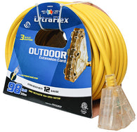 Ext Cord 30m SJTW 12/3 3-Outlet