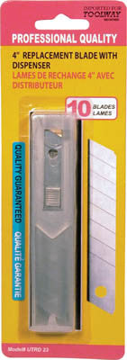 Utility Blade 100mm x 18mm with Plastic Dispenser 100/pkg