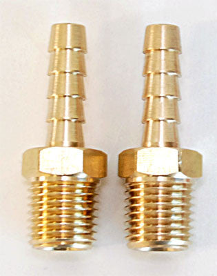 "1/4"" M NPT x 1/4"" Hose Barb 2 pc"