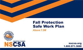 NSCSA Fall Protection Safe Work Plan (ABOVE 7.5 M)