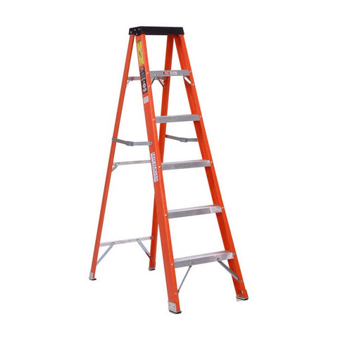 "Single Side Fibreglass Step Ladder 1AA 13"" x 10'"