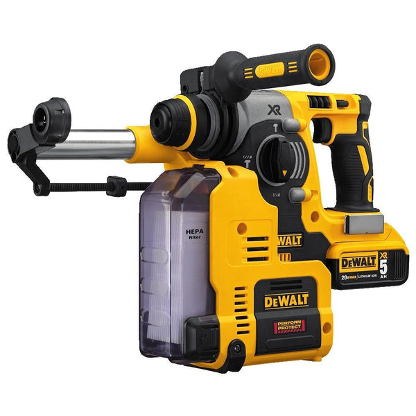 DeWALT 20V MAX VR Rotary Hammer with dust extractor.
