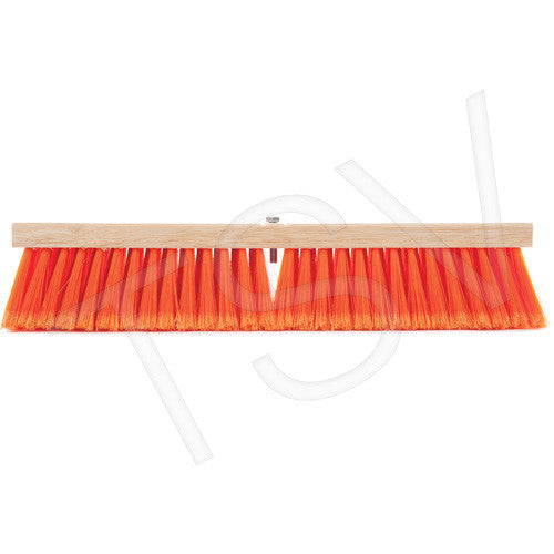 "24"" Safety Orange Push Brooms"