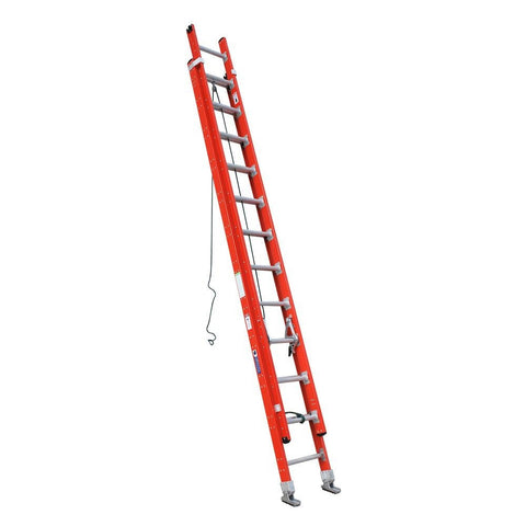 Fibreglass Extension Ladder with Cable, Pulley and hooks