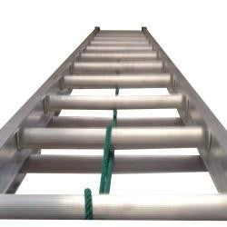 24' All Aluminum Extension Ladder with Cable & Pulley