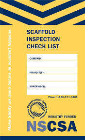 Scaffold Inspection Check List