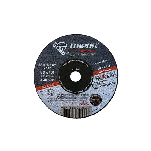 "ORIGINAL SMALL CUTTING DISC - TYPE 1 - STEEL/SS - A30S-BF - 2"" x 1/16"" x 3/8"" - 30,600 rpm"