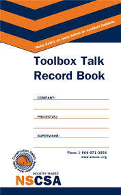 NSCSA Toolbox Talk Record Book