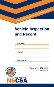 Vehicle Inspection and Record