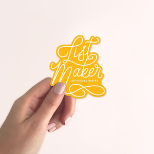 List Maker - Vinyl Sticker