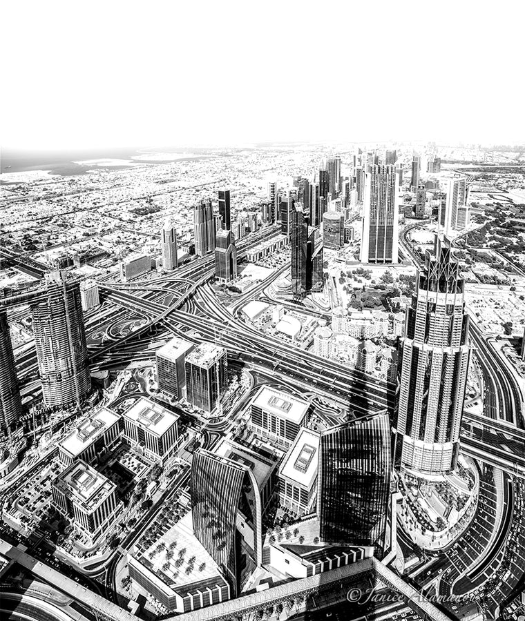 Dubai 3 - Limited Edition Photograph direct onto Aluminium
