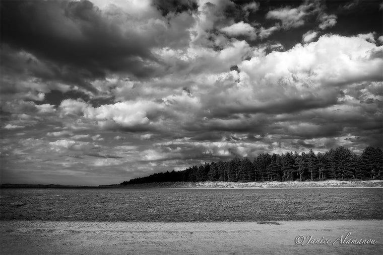 L094015bw Big Sky over Holkham Gap