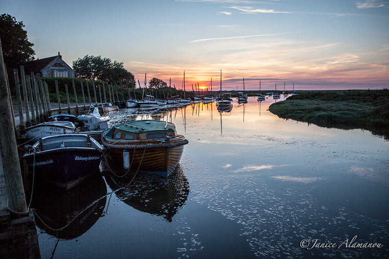 L099014 Blakeney Harbour Sunset