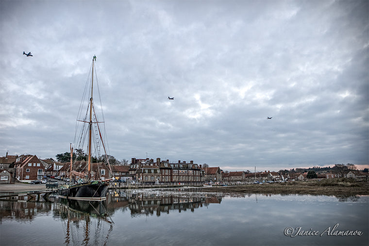 L488816 Fly Over Blakeney Harbour