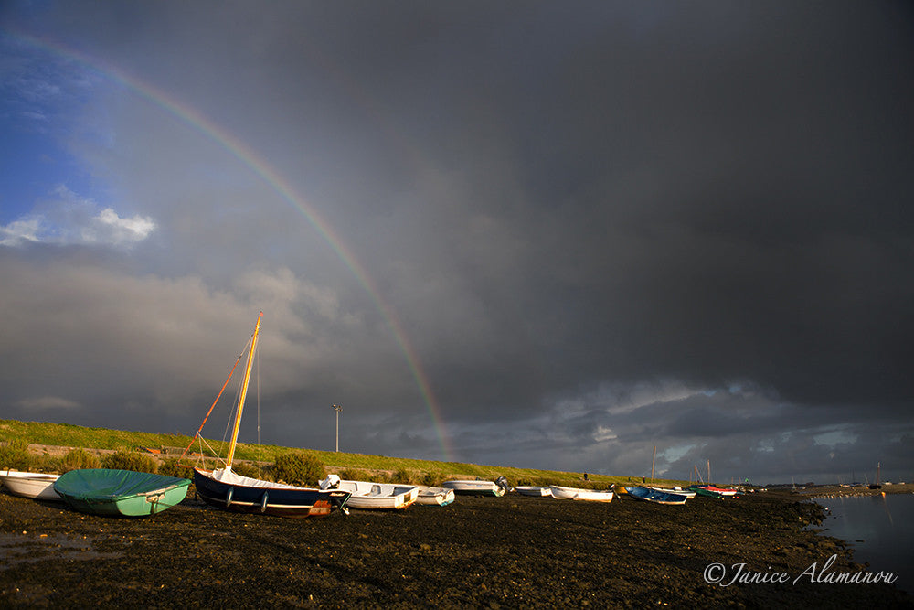 L587614 Rainbow over the Boats